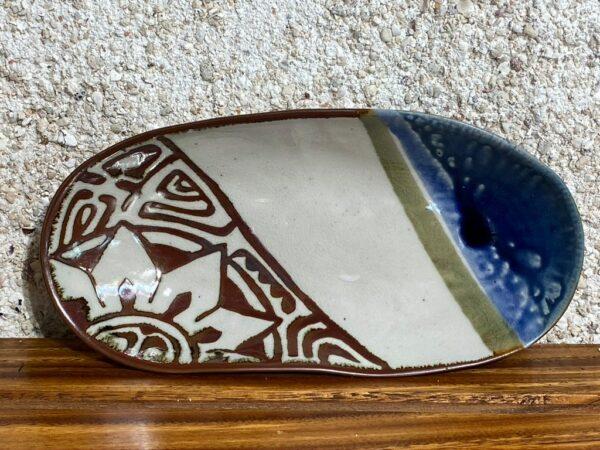 A Polynesian oval plate